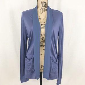 Ann Taylor Petite Medium Blue Cardigan